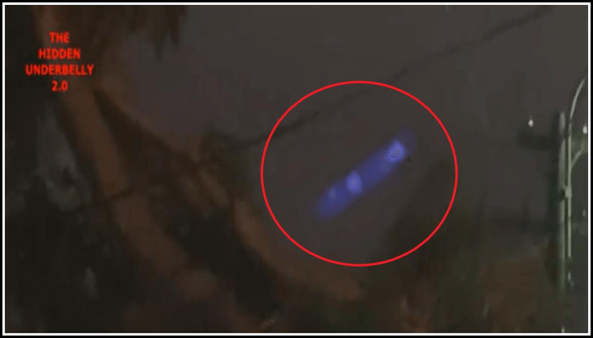 Светящийся синий НЛО над Сиднеем