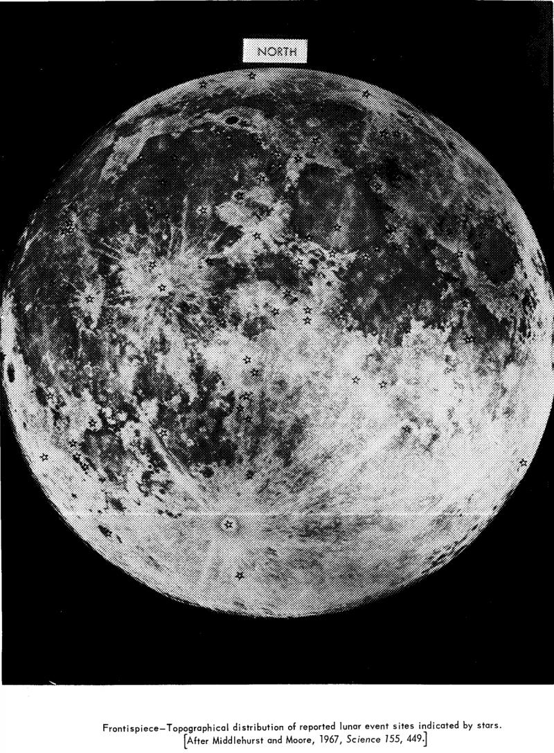 Первое наблюдение НЛО на Луне