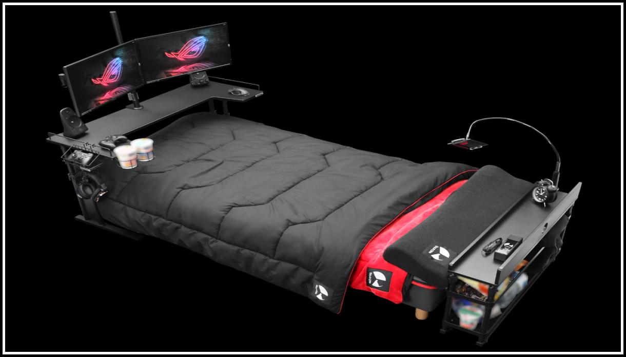 Компьютерная мебель: кровать для гейминга