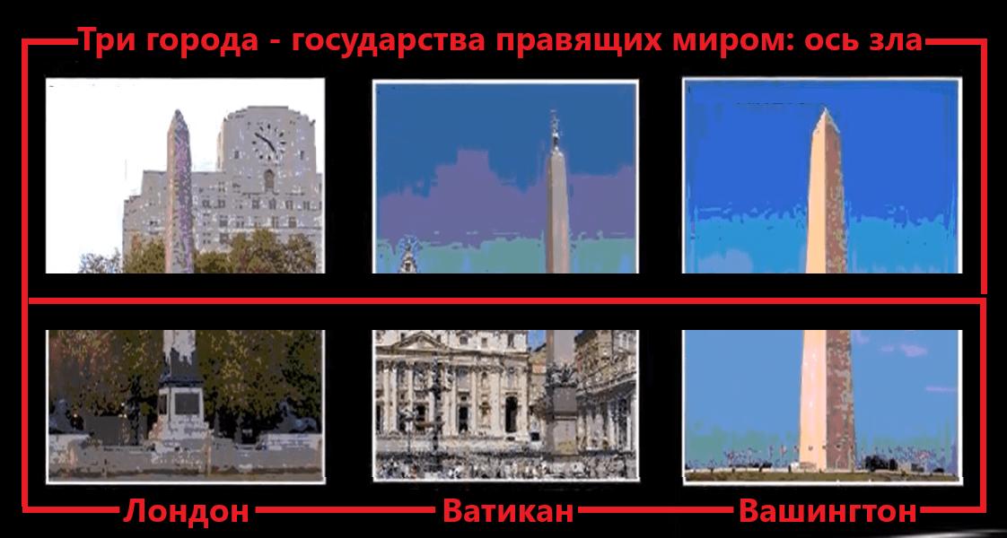 Три города - государства правящих миром: ось зла